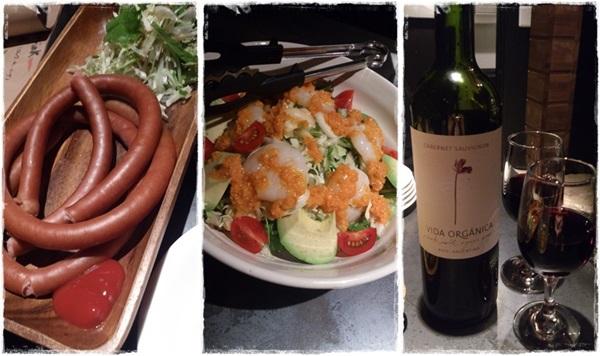 美味しい料理とワイン