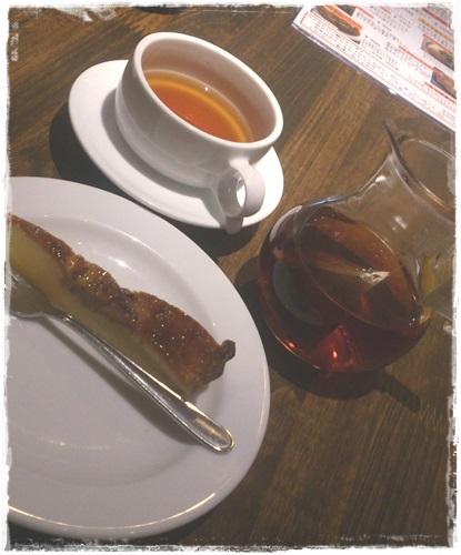 食後のデザートとお茶!