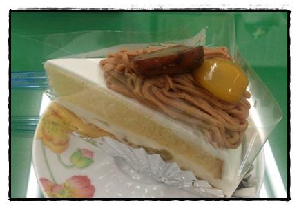 石田屋さんのマロンケーキ!